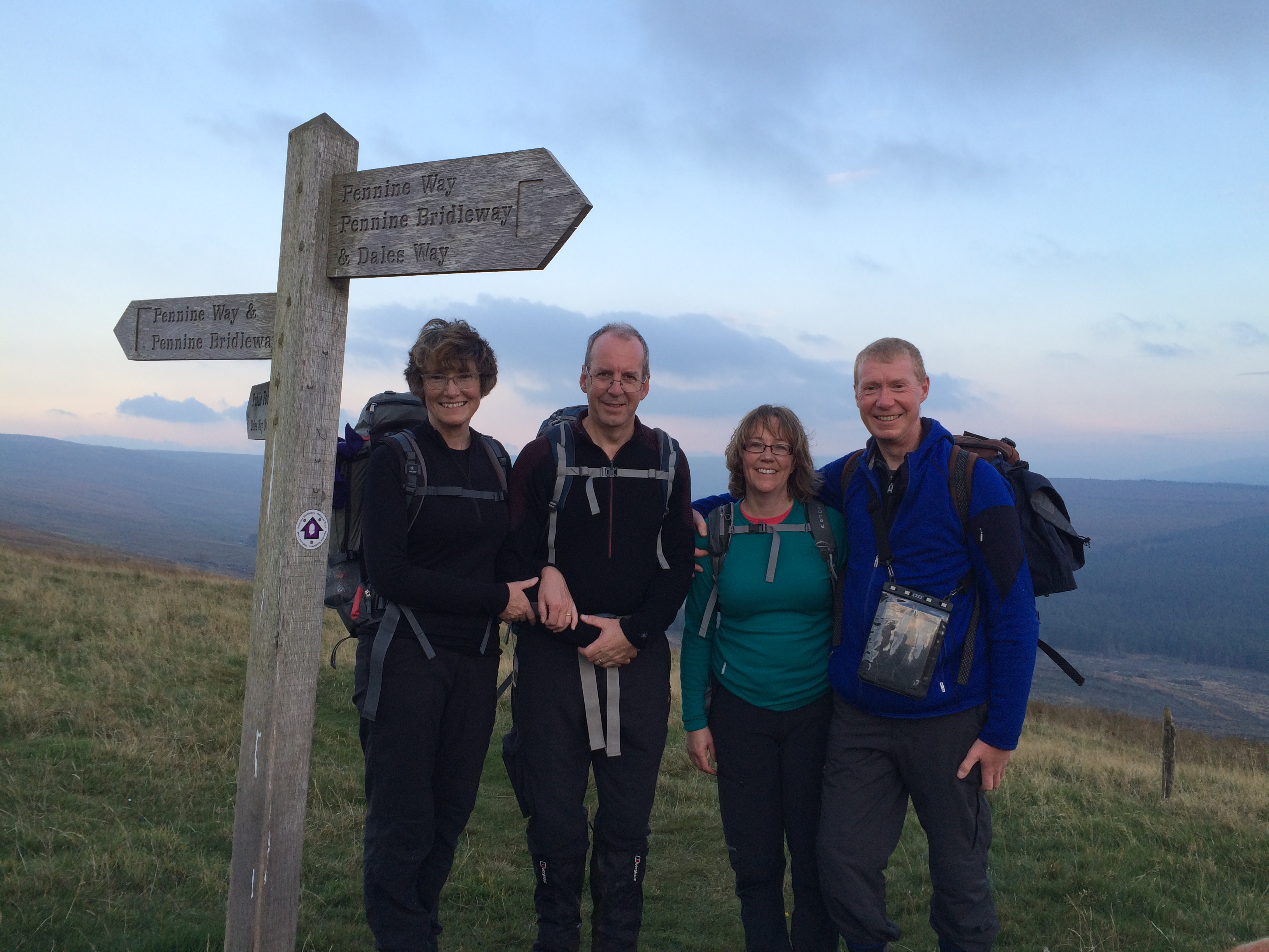 On Cam fell, where the Dales Way (October 2015) crosses the Pennine Way.   It was this walk that sowed the seed of PW 2016..